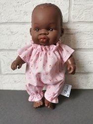 Olimi, ubranko dla lalki Miniland 21cm, różowe kwiatuszki