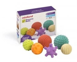 Miniland, kauczukowe piłki sensoryczne, 6 szt.