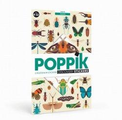 Poppik, wielki plakat wyklejanka, 44 naklejki, owady