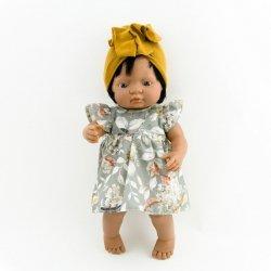 sukienka z turbanem dla lalki Miniand 38cm