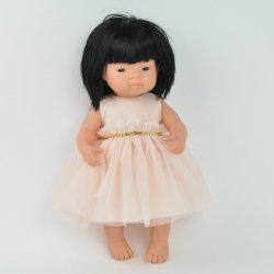 balowa sukienka dla lalki Miniland 38cm