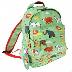 Rex, mały plecaczek, zwierzątka, zielony
