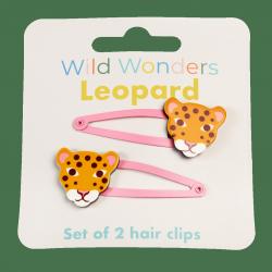 Rex london, zestaw 2 spinek do włosów, leopard