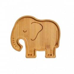 Sass&Belle, bambusowy talerz, słonik