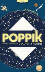 Poppik, wielki plakat wyklejanka, 640 naklejek świecących w ciemności, konstelacje gwiazd