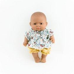 zestaw: tuniczka w kolorową łączkę + miodowe bloomersy, 21cm
