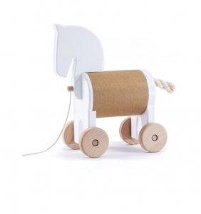 Bajo, drewniany konik skrytka, biały
