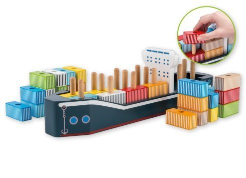 Joueco, drewniany statek kontenerowiec,