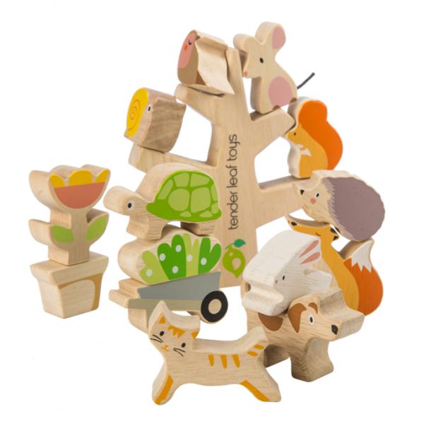 Drewniana układanka, przyjaciele z ogrodu