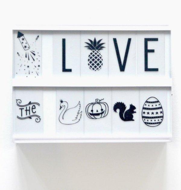 A Little Lovely Company, zestaw znaków celebration, do lightboxa