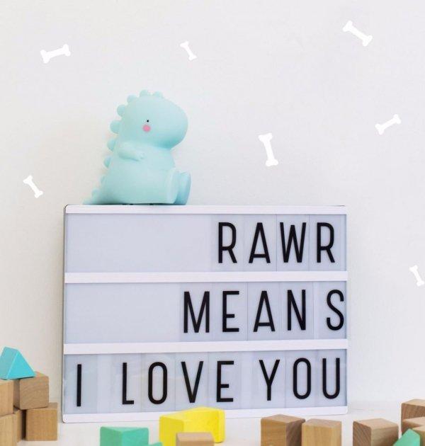 A Little Lovely Company, lampka ledowa t-rex z wyłacznikiem czasowym