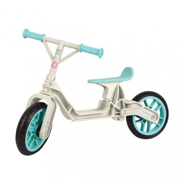 Balance bike, rowerek biegowy, kremowo miętowy