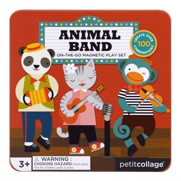 Petit Collage, układanka magnetyczna, muzyczny band zwierzątek