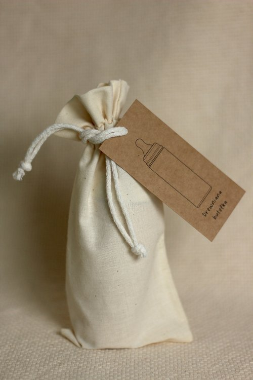Miniland, drewniana butelka dla lalki, waniliowa