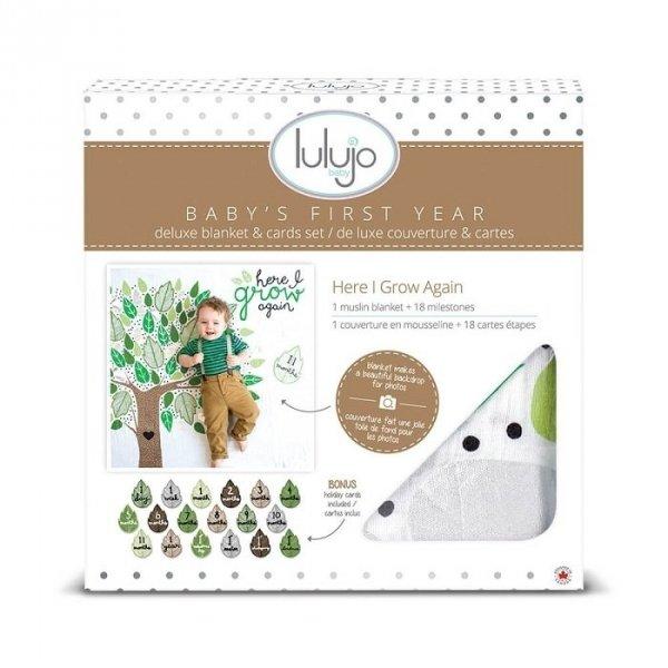 Lulujo, zestaw: kocyk muślinowy+ karty, Drzewko