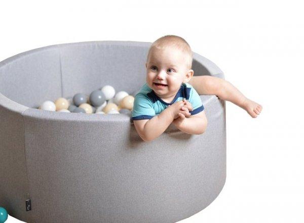 Aja baby, suchy basen okrągły, 90x40, różne kolory, +250 pileczek