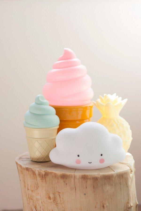 A Little Lovely Company, lampka ledowa chmurka biała, mała