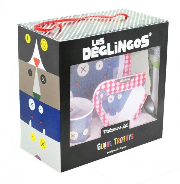 Les Deglingos, zestaw naczyń z melaminy, Hippo