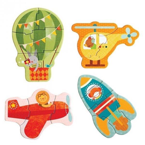 Petit Collage, pierwsze puzzle, latanie