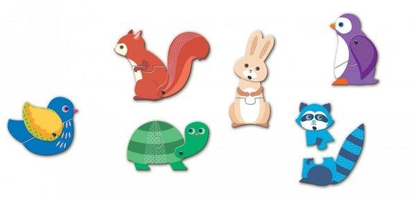 Djeco, ruchome puzzle, zwierzęta
