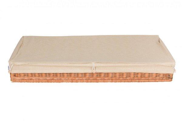 malooni wiklinowy kosz-szuflada z bawełnianą wkładką krateczka
