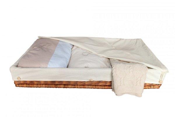 malooni wiklinowy kosz-szuflada z bawełnianą wkładką ecru