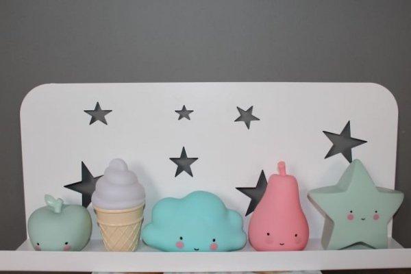 A Little Lovely Company, lampka ledowa lód w wafelku, biały