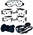 Zestaw do BDSM Soft-Bond-X Mega-Fessel-Set 11 (cuff. dalmatian)