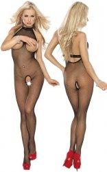 Roxana Fishnet catsuit S-M/Black