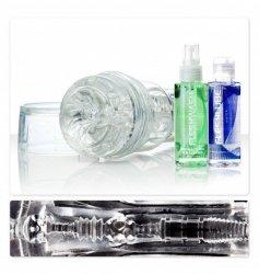 Masturbator (zestaw) Fleshlight GO Torque Ice Combo - masturbator analny