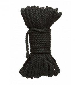 Kink by Doc Johnson - Hogtied Bind & Tie sznur do krępowania 9m x 6mm , czarny