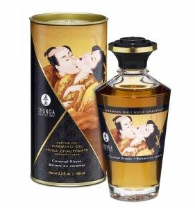 Shunga Aphrodisiac Oil Caramel Kisses 100 ml - jadalny olejek do masażu (karmelowy)
