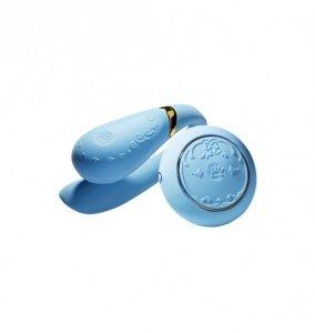 Zalo Fanfan Set - zdalnie sterowany wibrator dla par (niebieski)