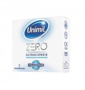 Unimil Zero - Prezerwatywy ultracienkie, dodatkowo nawilżane (1op./3szt.)