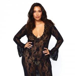 Leg Avenue Sukienka elastyczna czarna XXL