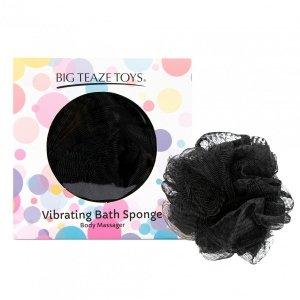 Big Teaze Toys Bath Sponge Vibrating Black - wibrująca gąbka do kąpieli (czarna)