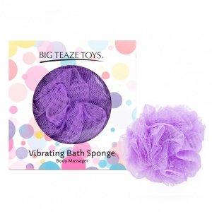 Big Teaze Toys Bath Sponge Vibrating purple - wibrująca gąbka do kąpieli (fioletowa)