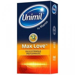 Unimil Max Love - Prezerwatywy opóźniające wytrysk (1op./12szt.)