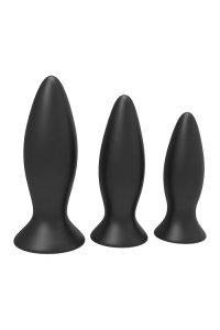 Dream Toys Cheeky Love Booty Cone Training Set - zestaw wibrujących korków analnych