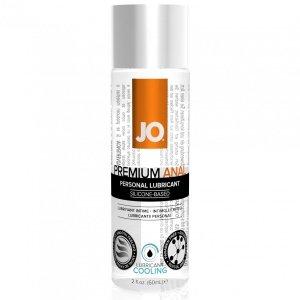 System JO Premium Anal Silicone Lubricant Cool 60 ml - chłodzący lubrykant analny na bazie silikonu