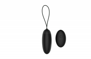 Dream Toys Pleasure Eggs Remote Dusky Pleaser Black - wibrujące jajko z pilotem