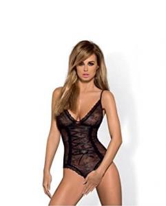 Obsessive Slevika body L/XL (czarny)