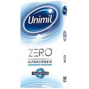 Unimil Zero - Prezerwatywy ultracienkie, dodatkowo nawilżane (1op./10szt.)