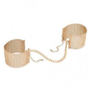 Bijoux Indiscrets - Désir Métallique metalowe kajdanki erotyczne, złote