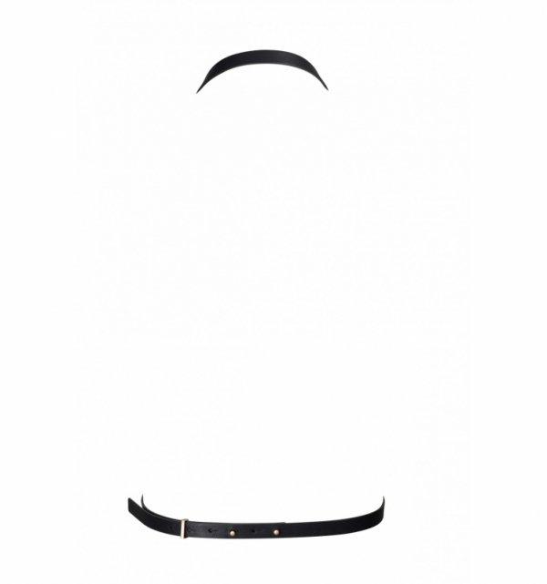 Bijoux Indiscrets MAZE 8 Harness - skóropodobna uprząż BDSM (czarny)