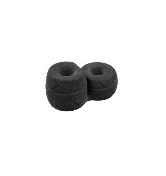 Pierścień erekcyjny Perfect Fit - SilaSkin Cock & Ball (czarny)