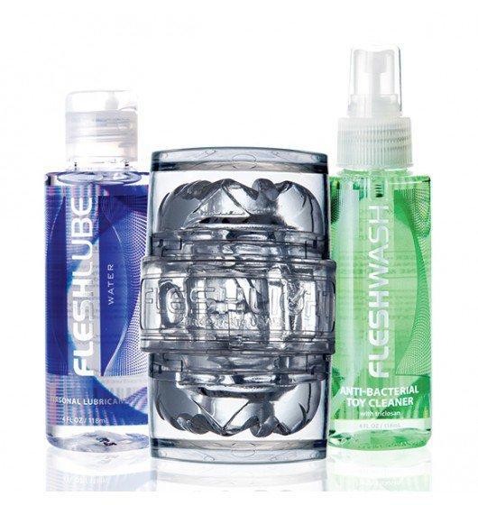 Masturbator Fleshlight QuickShot Vantage Cobo Pack z zestawem lubrykantów