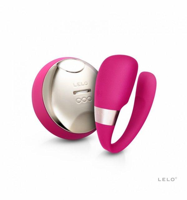 LELO Tiani 3 - Wibrator dla par (wiśniowy)