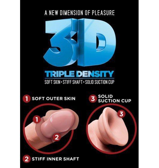 King Cock dildo - Plus 6'' Triple Density Cock sztuczny penis (cielisty)
