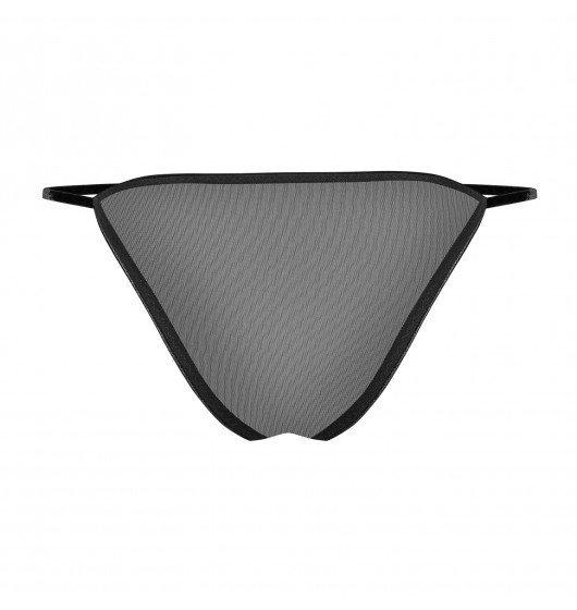 Noir handmade Petitenoir Biustonosz z fiszbinami i majtki wykończone haftem M (czarny)